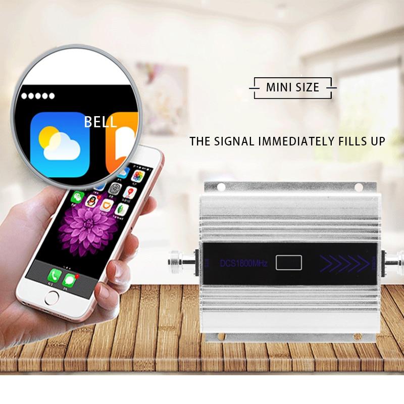LTE 4G DCS 1800MHZ amplificateur de Signal cellulaire affichage LCD répéteur de Signal de téléphone portable répéteur Yagi + fouet antenne câble Coaxial/ - 4