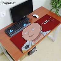 Yinuoda High Quality One punch man Unique Desktop Pad Game Mousepad Size 180*220 200*250 250*290 300*600 and 400*900*2mm 4
