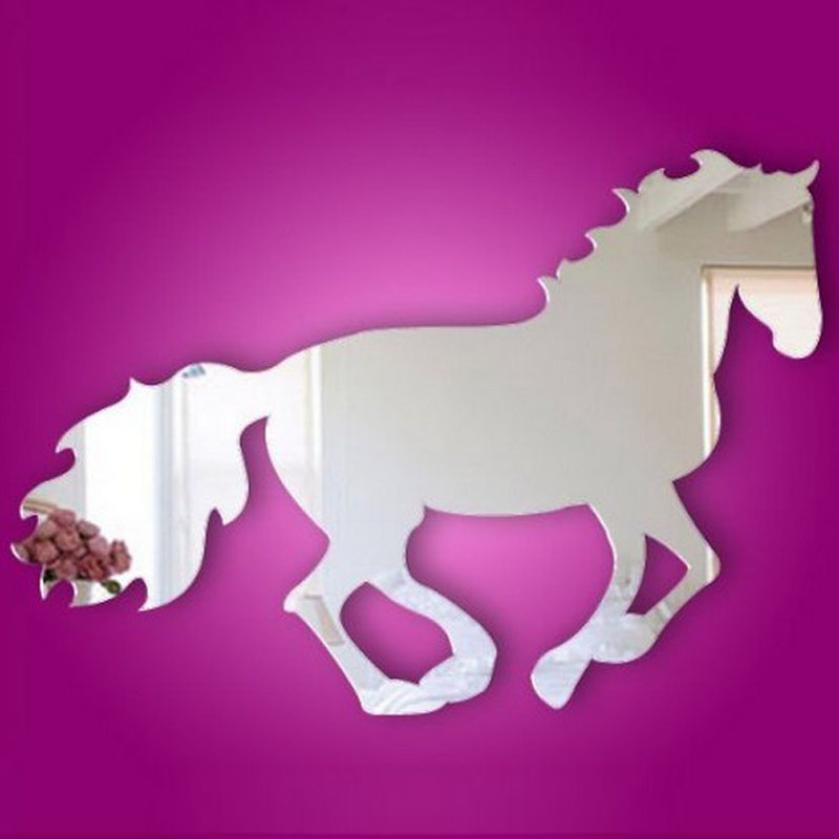 D3 High Cost-Effective Galloping Horse Sticker DIY Mirror Wall Clock Wall Sticker Home Decoration 1.27
