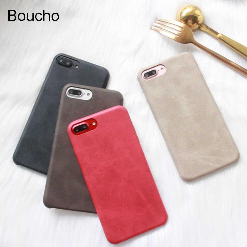 Boucho أزياء ريترو لينة حالة الهاتف ل فون × حالة آيفون 6 ثانية 6 7 8 زائد حالات بلون الغطاء الخلفي حالة كلاسيكية كوكه