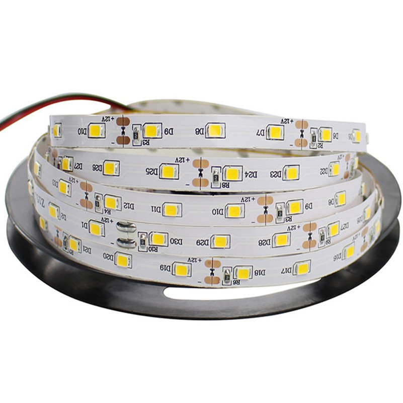 Wholesale 5m/roll 5M 10M 50M 100M LED Strip SMD 2835 12V 60 leds/m Non Waterproof Flexible LED Tape White Warm White RGB Strip 5m 10m rgb led strip 12v 60 leds m smd 2835 waterproof flexible tape ribbon colorful rope light string lamp led controller power