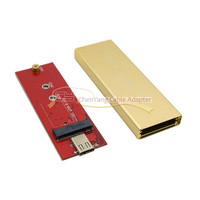 Gold USB C USB 3.1 Type C to M.2 NGFF PCI E 2 Lane SSD Enclosure for E431 E531 X240 Y410P Y510p cy