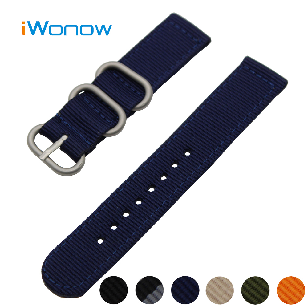 Nylon Watch Band 24mm for Sony Smartwatch 2 SW2 Stainless Steel Pin Buckle Strap Wrist Belt Bracelet Black Blue Green Orange 24mm nylon watchband for suunto traverse watch band zulu strap fabric wrist belt bracelet black blue brown tool spring bars