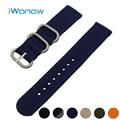 Nylon Watch Band 24mm for Sony Smartwatch 2 SW2 Stainless Steel Pin Buckle Strap Wrist Belt Bracelet Black Blue Green Orange
