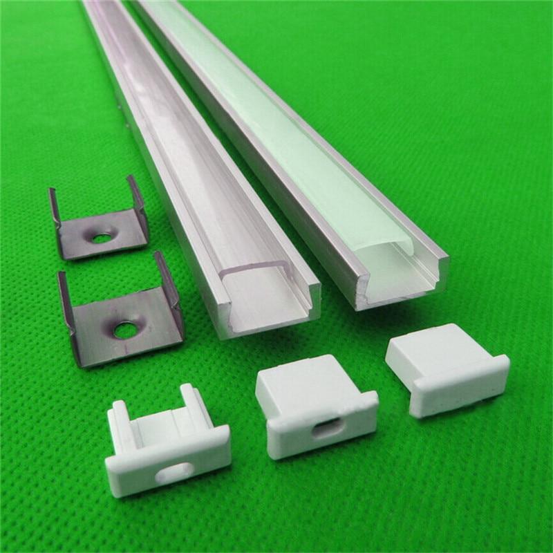 20pcs of 2 5m pc 40pcs of 2m pc led aluminium profile with milky transparent cover