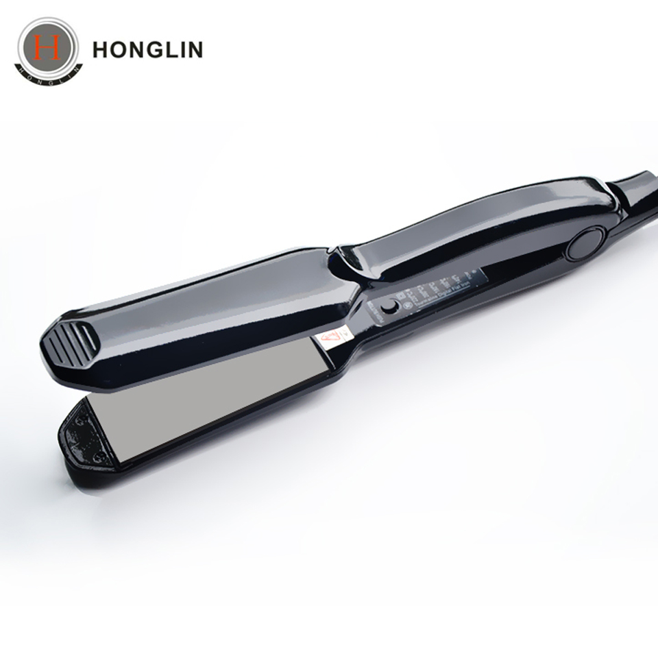 Professional Steam Function Flat Iron Tourmaline Ceramic Vapor Professional hair straightener curler with Styling Tools professional high quality ceramic multi function hair straightener and wand curler fashion flat iron products free shipping
