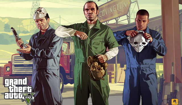 Grand Theft Auto V Art Silk Print Fabric Poster Game Hot