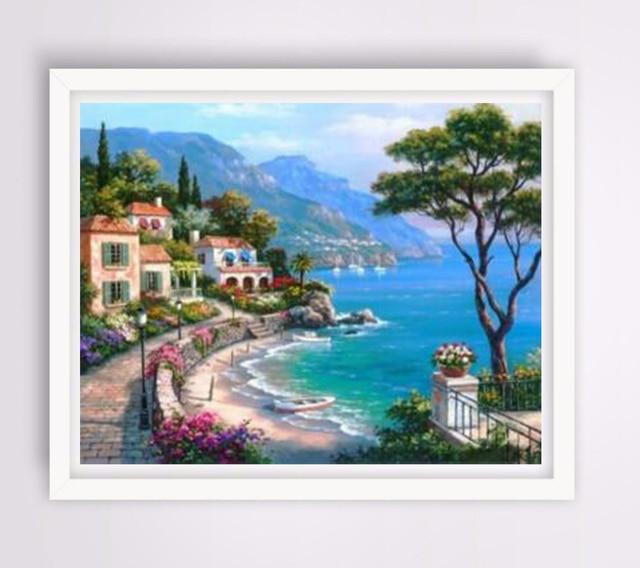 Us 77 48 Offrahmenlose Bilder Malen Nach Zahlen Digitale Acryl ölgemälde Auf Leinwand Mittelmeer Home Decor 40x50 Cm Tf302 In Rahmenlose Bilder