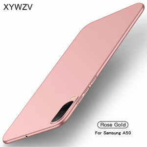 Image 2 - עבור סמסונג גלקסי A50 מקרה Silm יוקרה דק חלק קשיח מחשב מקרה טלפון עבור Samsung Galaxy A50 כיסוי עבור Samsung A50 Fundas