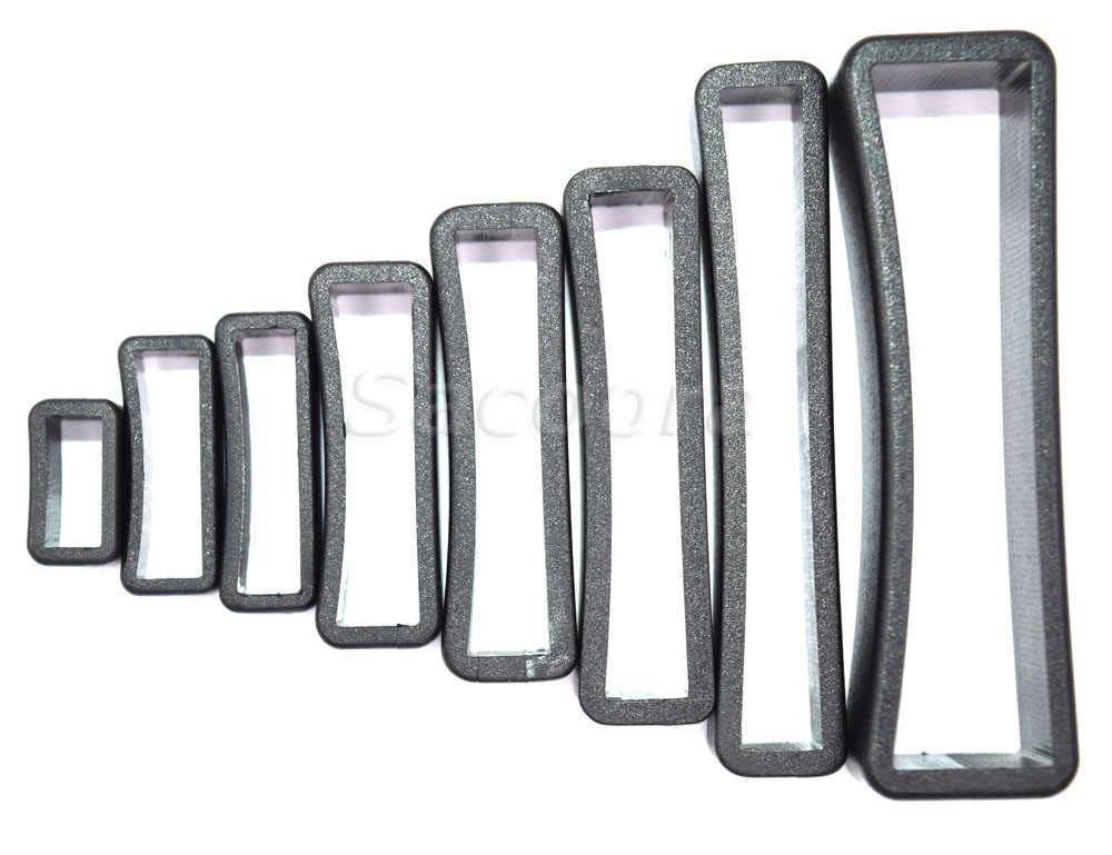 5 sztuk/partia z tworzywa sztucznego nie miał w tej sytuacji pętli Loop plac Loop skóra Craft 8 rozmiarów do wyboru z czarnego