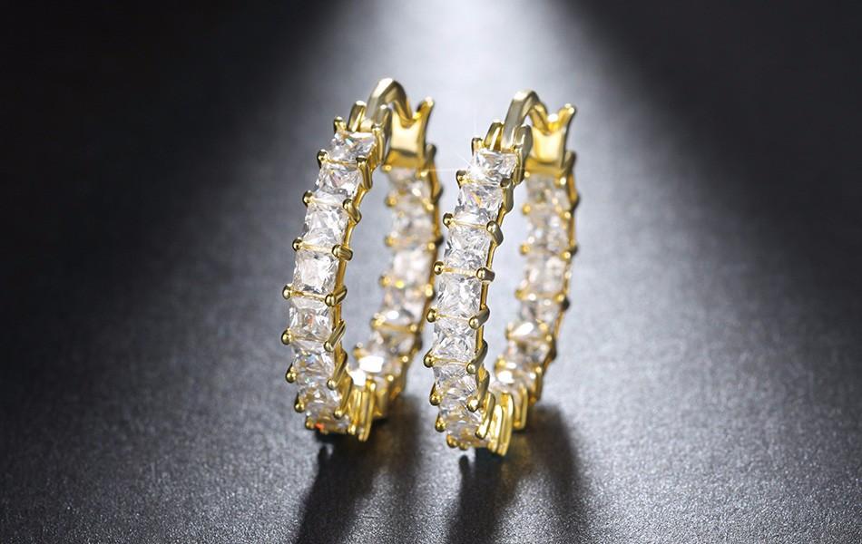Effie Queen Big Round Hoop Female Earring Eternity Style with Shiny Zircon Bar Setting Luxury Earrings for Women Wholesale DE144 8