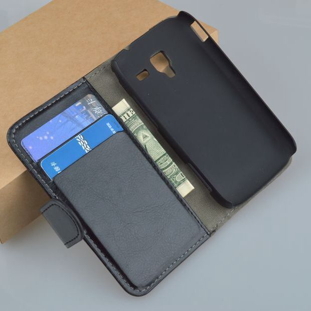 J&R Leather Flip Stand Case For Samsung Galaxy Ace 2 i8160 8160 Gt-i8160 Cover Wallet with Card Holder 9 Colors Available