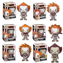 FUNKO POP Movies Stephen King It Joker Clown Character PENNYWISE Vinyl Action Figure Collectible Model Toys For Children Gift(China)