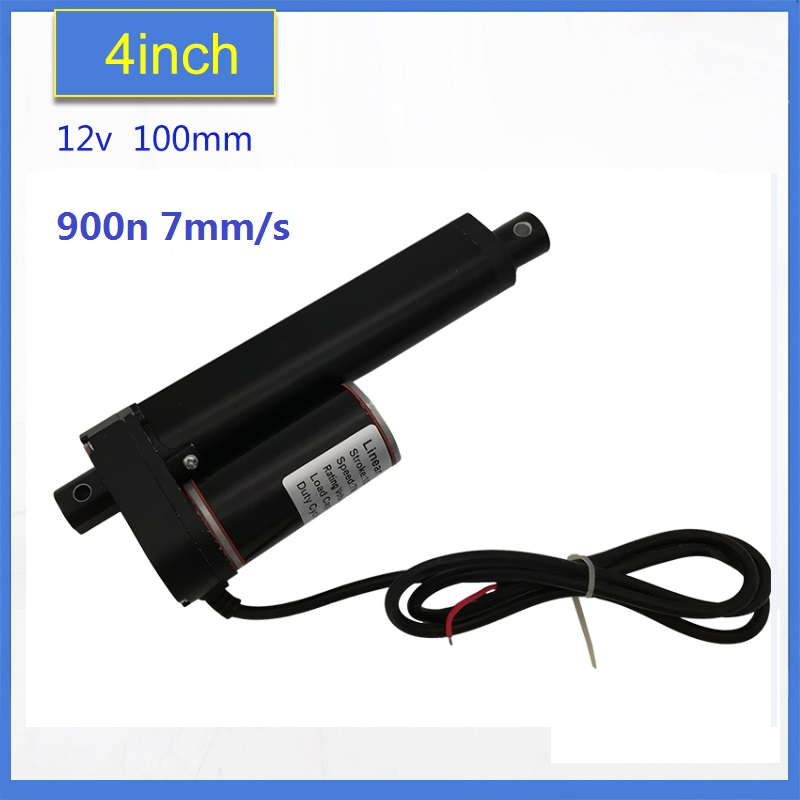 NEW!! most competitive 100mm stroke black ,12V DC  electric linear actuator  motor 900n 7mm/s /10mm/sNEW!! most competitive 100mm stroke black ,12V DC  electric linear actuator  motor 900n 7mm/s /10mm/s