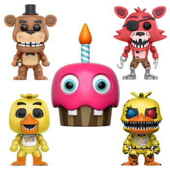 2PCS/Set Five Nights At Freddy's FNAF Toys PVC Action Figures Dolls Chica Bonnie Foxy Freddy 5 Fazbear Puppet Nightmare Bear freddy fazebear chica foxy full face latex mask costume toys five nights at freddy fnaf halloween horror mask brinqudoes l2079