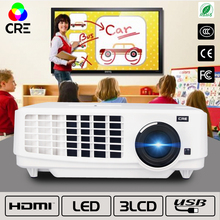CRE 3LED 3LCD 1028*768 3800LUMENS LED Projector Home Business School Classe use Proyector