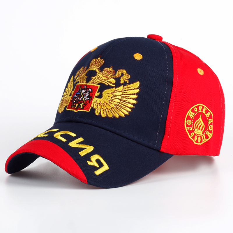 TUNICA New men women 100% cotton baseball cap Russian national flag embroidery Snapback fashion hat men and women Patriot cap