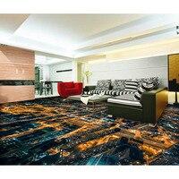 Custom Photo Floor 3D Wallpaper Modern Art City Night Lights Non slip Waterproof Self adhesive PVC Wallpaper 3D Floor