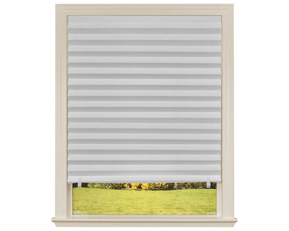 Weiß Selbst-adhesive Plissee Jalousien Blackout Fenster 90x180 Cm Elegante Form Haus & Garten
