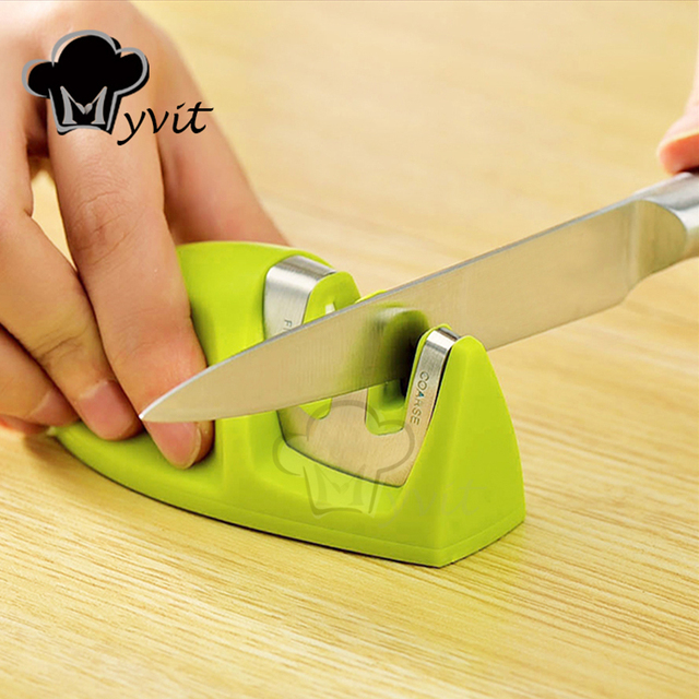 Knife Sharpener Whetstone Kitchen Knives Sharpening Stone Grindstone Grinder Stone Two Stages Diamond And Ceramic Household Tool 5