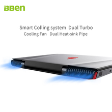 BBEN G16 laptop for gaming 15.6 inch  fast running 32GBRAM+256GB SSD+2TB HDD 1920×1080 FHD wifi IPS screen i7 7700HQ notebook