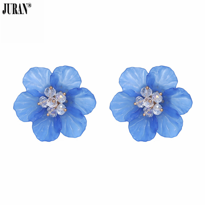 Юран 6 цветов Горячие Дизайн Мода смолы цветок серьги для Для женщин 2018 Новый Шарм себе серьги Свадебные аксессуары