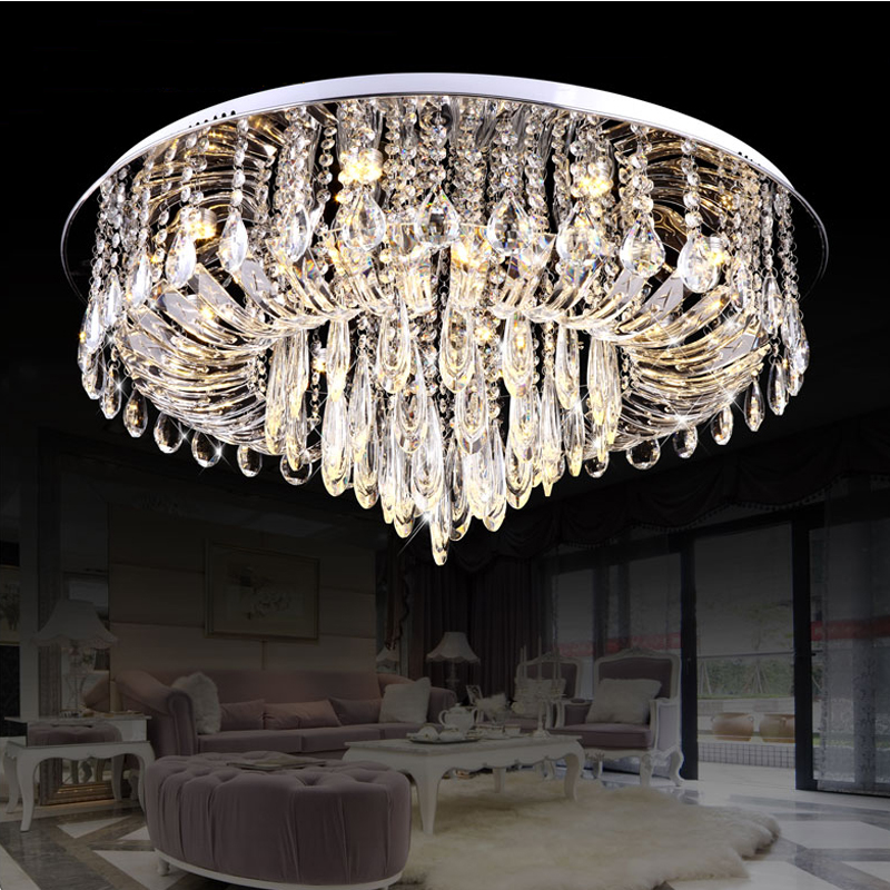 ✓K9 Kristal Plafond Verlichting Lustres de Teto Lustres De Cristal ...