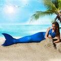 Venda Direta Da fábrica de design exclusivo da Escala Completa Sereia Cauda Swimmable Maiô para presentes de Aniversário meninas Swimwear Biquíni