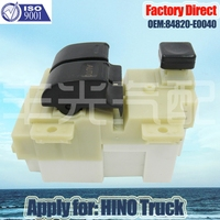 Factory Direct High Quality RHD Auto Power Window Switch Apply for HINO truck 84820 E0040 RHD Right Driver Side Switch