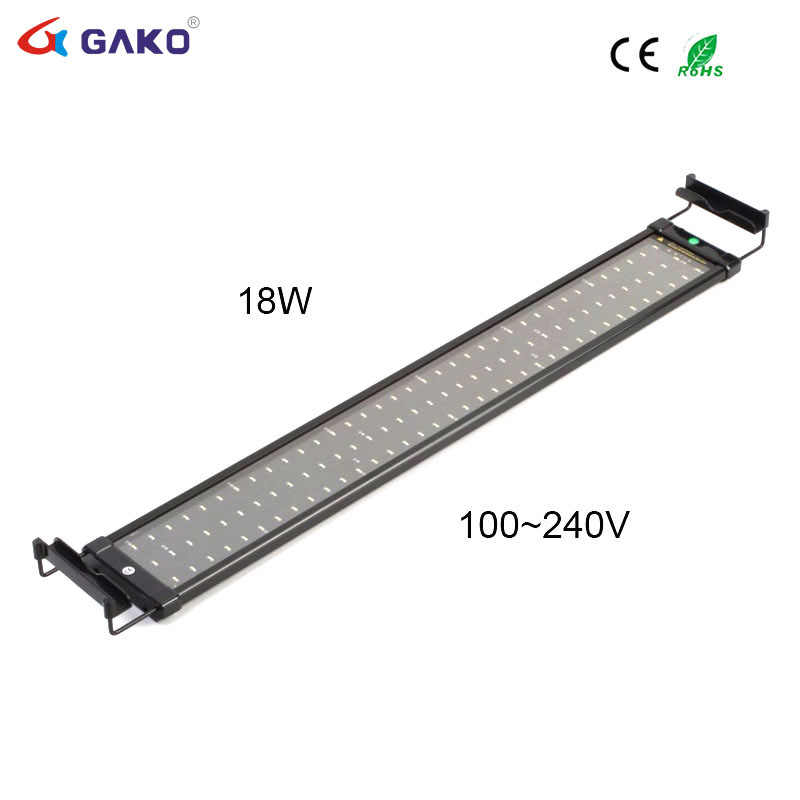 Aquarium For Brackets Tank Light 75~95cm White Blue Fish Lamp 90 Led And Lighting 18 With Extendable trsdhQ