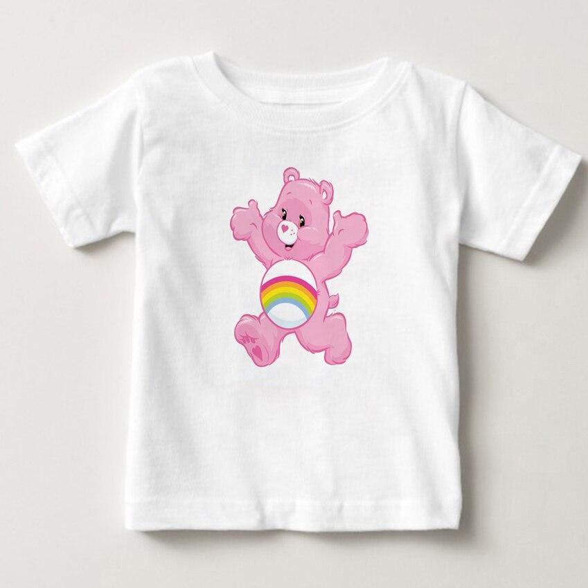 bab55d0caf Care Bears Cartoon Design Funny Children's T shirt Kids Clothes Cute Bears  Boys Girls Tops Kawaii Tees For Toddler Baby MJ
