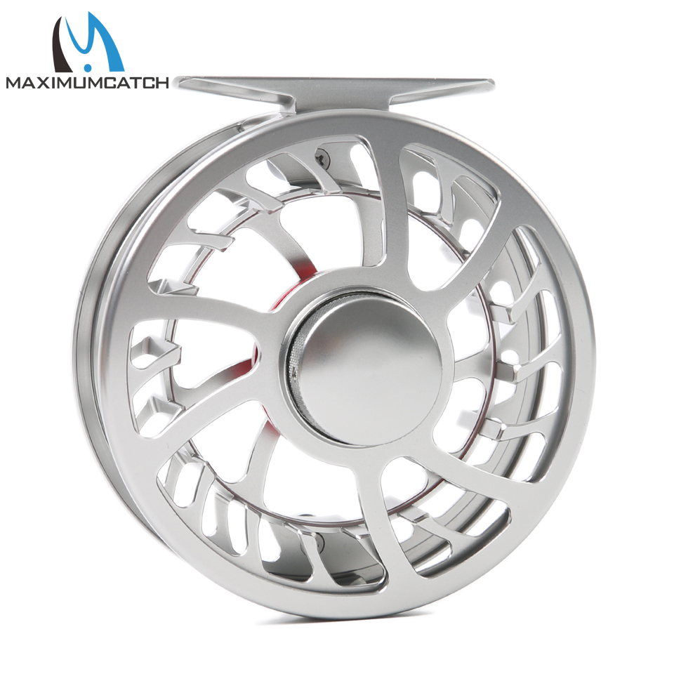 Maximumcatch Exclusive Super Light Fly Fishing Reel CNC Machine Cut 3/4WT Large Arbor Aluminum Fly reel