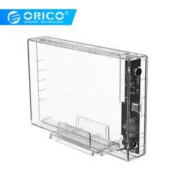 Orico 3.5 pollici hard disk box Tipo-C trasparente scatola mobile del disco rigido 10 Gbps di lettura Esterno notebook desktop di universale USB3.0