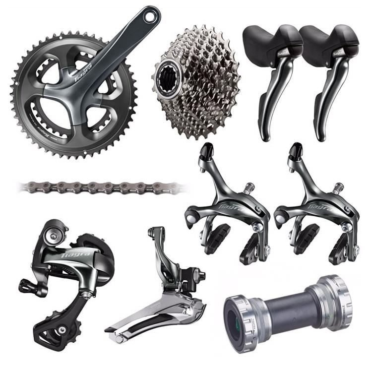 все цены на Shimano TIAGRA 4700 10 2*10 Speed 50/34 52/36 170mm 172.5mm Derailleurs and Brake Groupset for Road Bike Bicycle онлайн