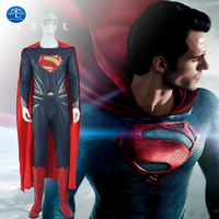 MANLUYUNXIAO Movie Personaggio di Superman Costume Per Gli Uomini Halloween Festa di Carnevale Cosplay Costume uomo Outfit Custom Made