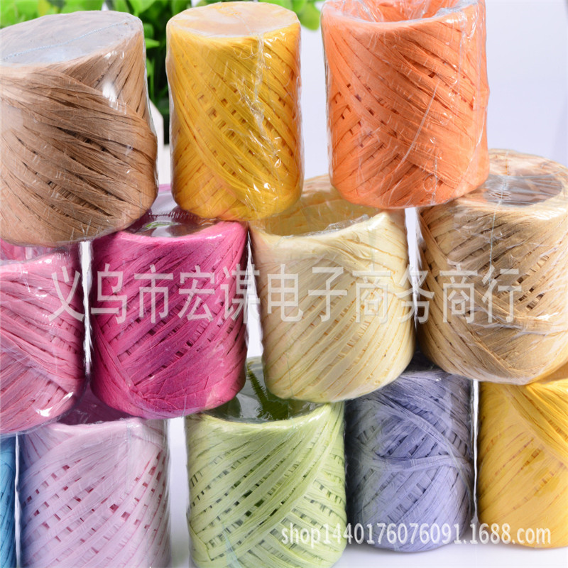 DIY Raffia Ribbon Cord Rope For Gift Box Packaging 6 roll/pack 30M/roll Cake Cookie Packing Decoration&Wrap Cinta Rafia