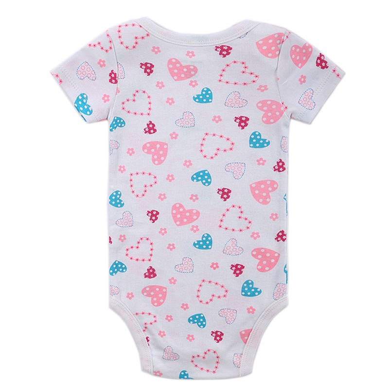 2016 Baby Boy Girl Clothes Body Cute Floral Short Sleeve Baby Bodysuits Overalls Ropa de Spring Next Newborn Summer Costume (100)