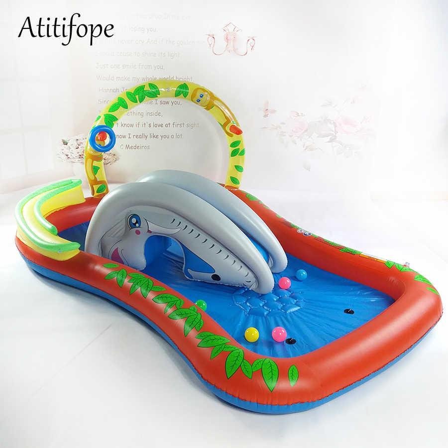 Piscina inflable paly para niños agua paly niños agua tobogán juguete mejores regalos de fiesta de cumpleaños