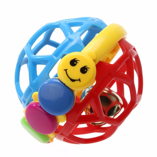 Baby Toy Fun Little Loud Bell Ball Baby Ball Toy Rattles Develop Baby Intelligence Baby Activity Grasping Toy Hand Bell Rattle