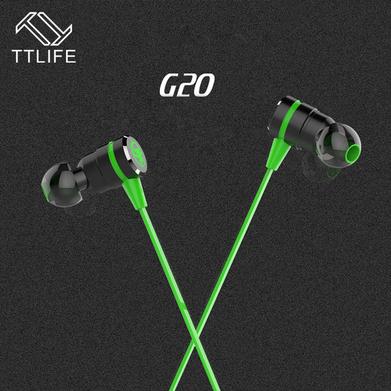 TTLIFE Wired Earphones G20 Noise Reduction Adjustable Volume Gaming Music Stereo In-Ear Headset With Mic for Phone Xiaomi Mp3