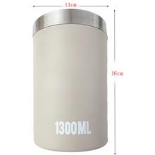 цена 1300ML Sealed Storage Jar Jar Tank Box Seasoning Color Tea Coffee Sugar Square Box Kitchen Sorting Food Storage Box Container онлайн в 2017 году