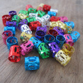 150Pcs/lot Golden And Silver Mixed Dreadlock Beads Adjustable Hair Braid Cuff Clip 8mm Hole