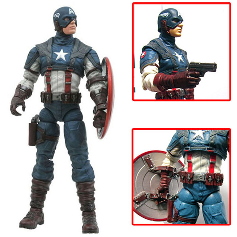 Marvel Super Hero PVC Toys Model Series the Avengers Captain America 20cm Pvc Action Figure Toys Collectibles Gifts