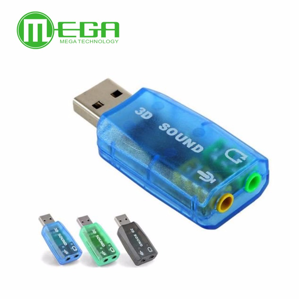 USB 2.0 to 3D AUDIO SOUND CARD ADAPTER  VIRTUAL 5.1 CH Sound Track CM108
