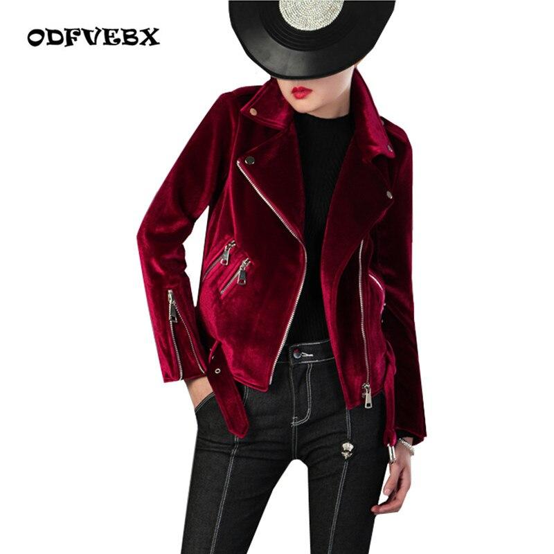 High-end Fashion Large Size Thickening Gold velvet Jacket 2018 Spring Autumn Women outwear Loose Long sleeve Jacket Coat ODFVBX