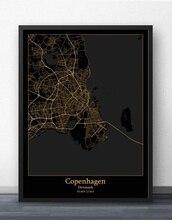 Copenhagen Denmark Map Poster nü denmark повседневные брюки