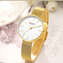 Luxury Gold Quartz Wrist Watches for Women CURREN New Ladies Fashion Steel Mesh Band Clock Female relogios feminino 2019