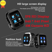 Android 5.1 WIFI Smart Watch Phone MTK6580 quad core 1GB 16GB 1.54 inch HD IPS Screen 0.3MP camera GPS pk KW98 x100