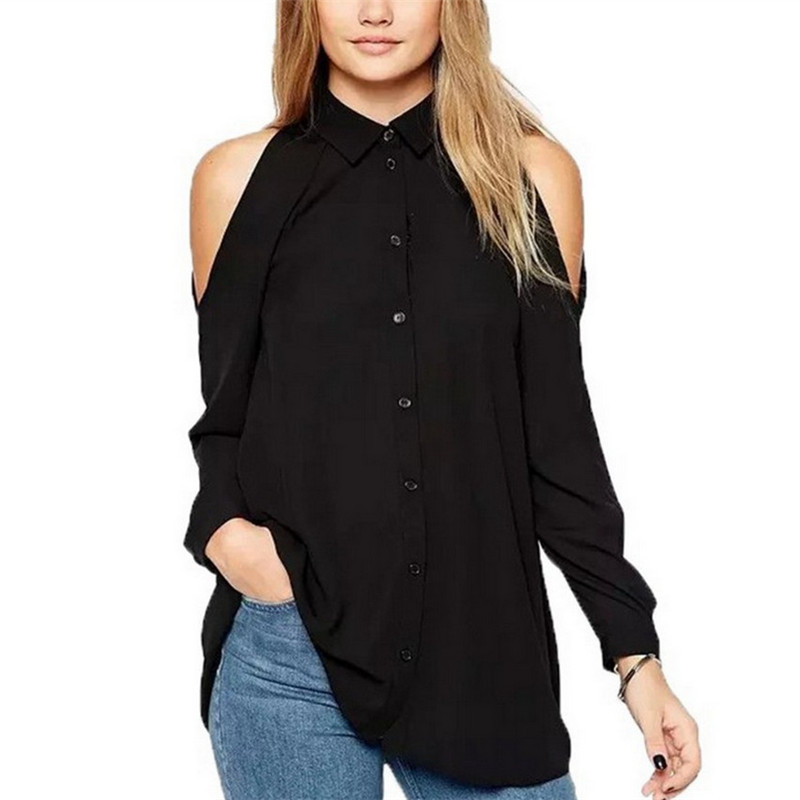 Loose Casual Chiffon Women Top Summer New Fashion Long Sleeve Bare Shoulder Blouse Big Plus Size 5XL Solid Color Female Clothes