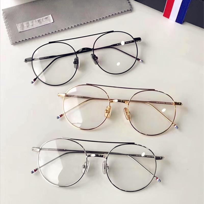 High quality large optical eyeglasses TB-1001-A light vintag